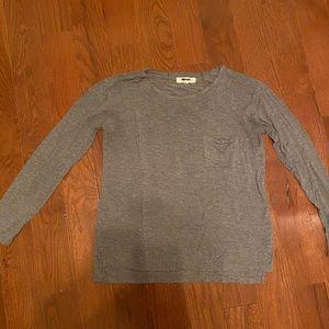 Madewell gray long sleeve t shirt